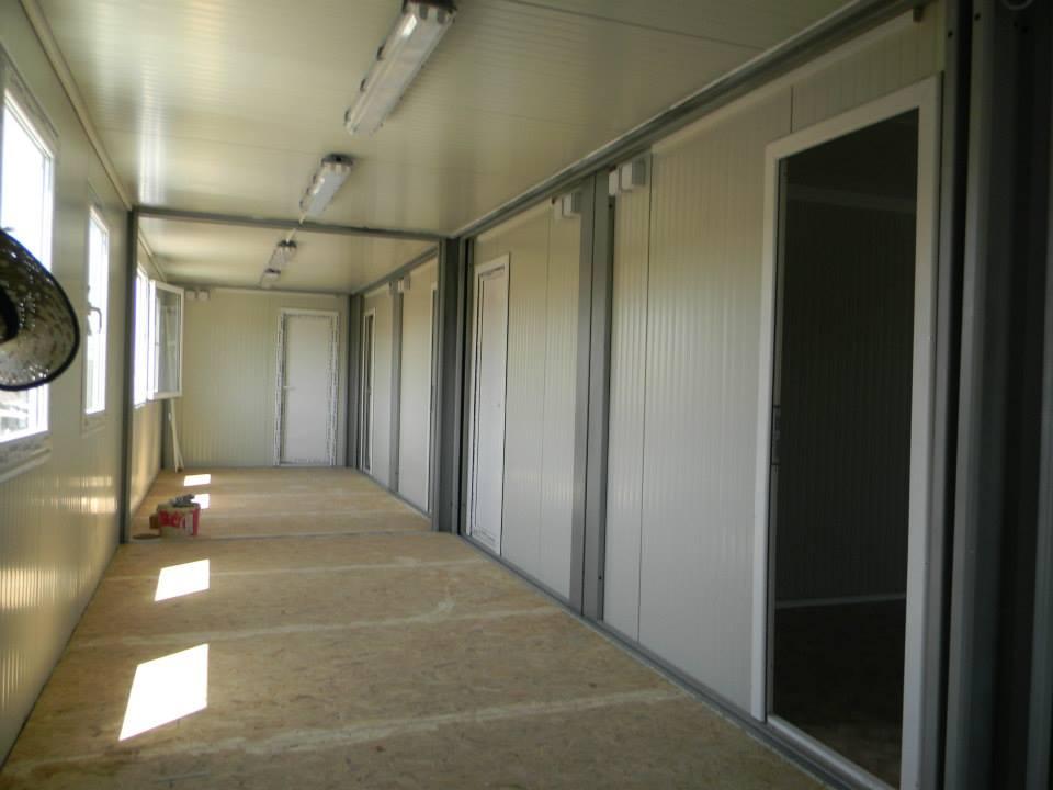 Unutrašnjost modularnih kontejnera